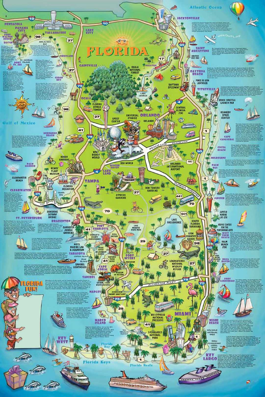 Florida Tourist Attractions Map Local Weather Map - Florida Attractions Map
