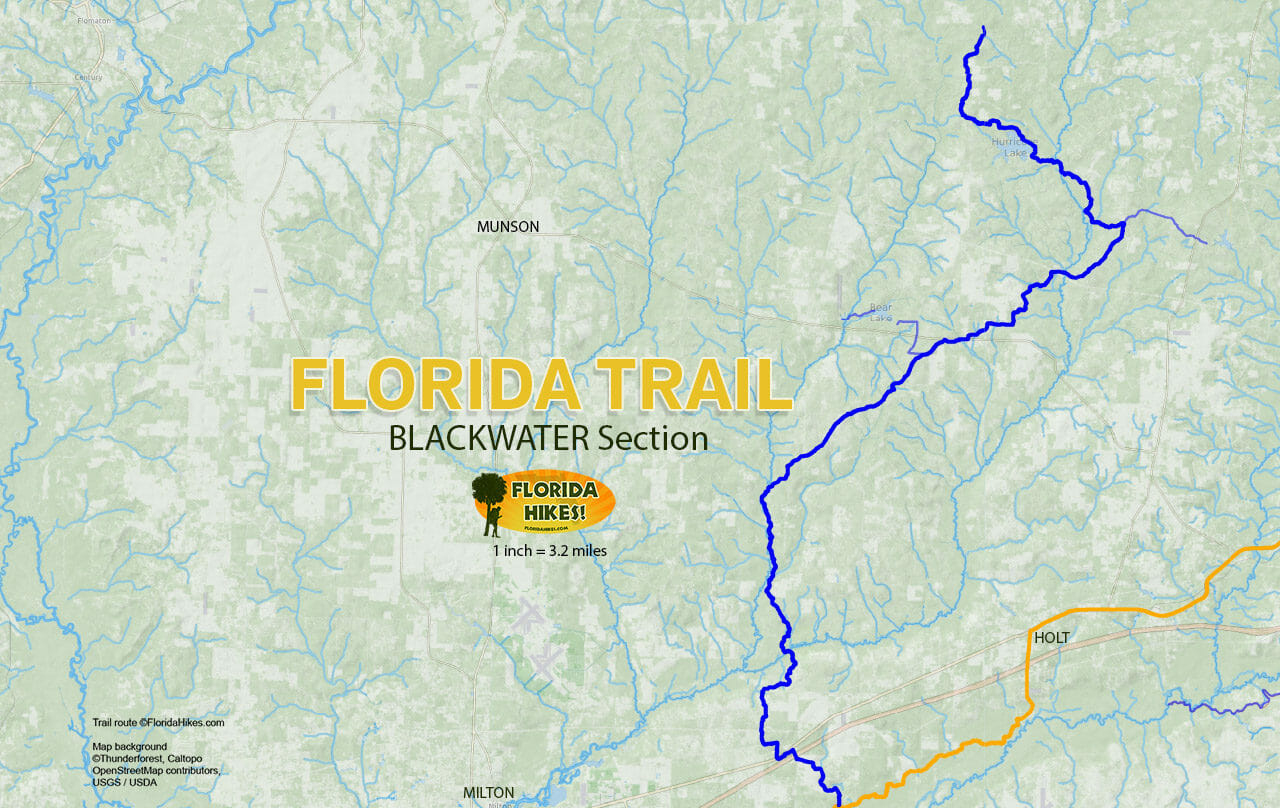 Florida Trail, Blackwater | Florida Hikes! - Florida Scenic Trail Interactive Map