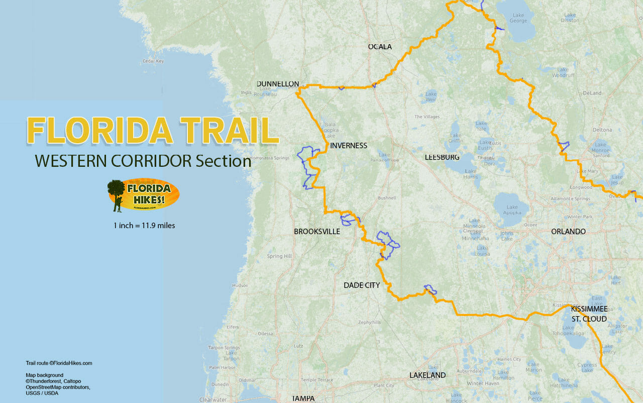 Florida Trail, Western Corridor | Florida Hikes! - Florida Scenic Trail Interactive Map
