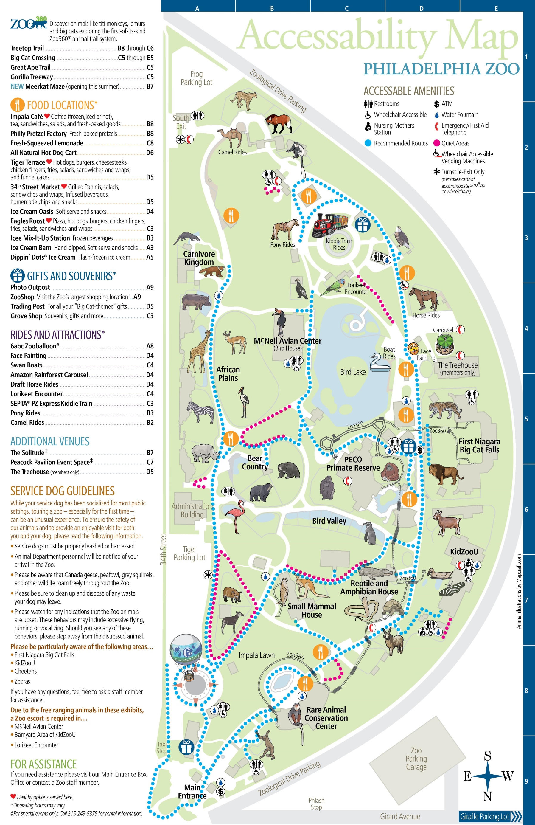 Florida Zoos Map - Library And Zoo Idoimages.co - Zoos In Florida Map