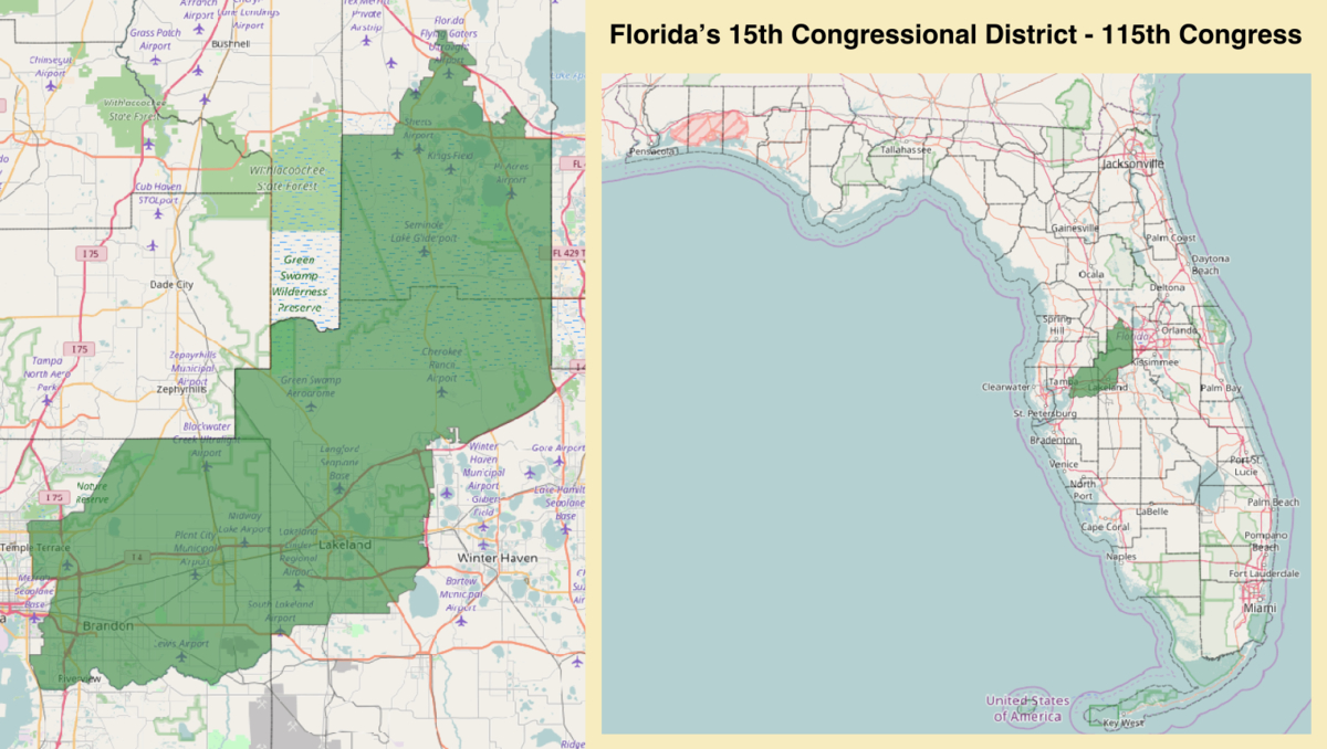 Florida's 15Th Congressional District - Wikipedia - Florida House District 15 Map