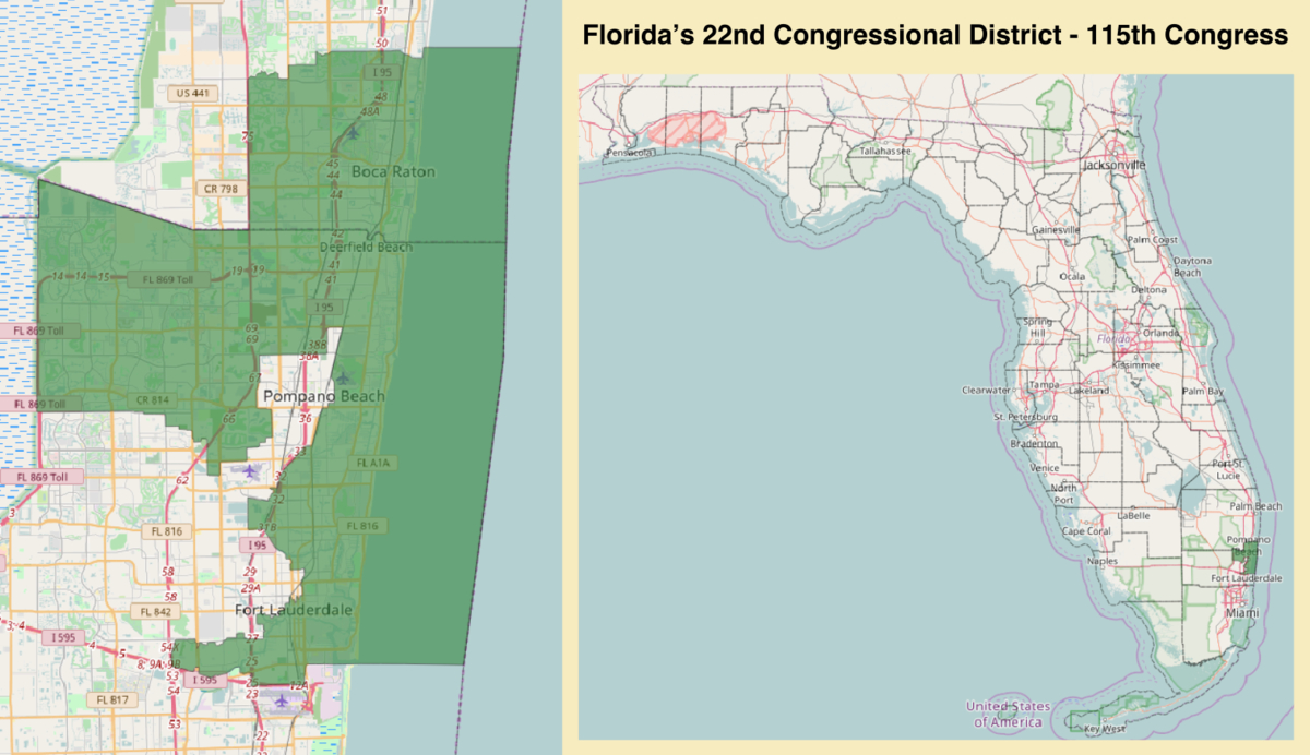 Florida's 22Nd Congressional District - Wikipedia - District 27 Florida Map