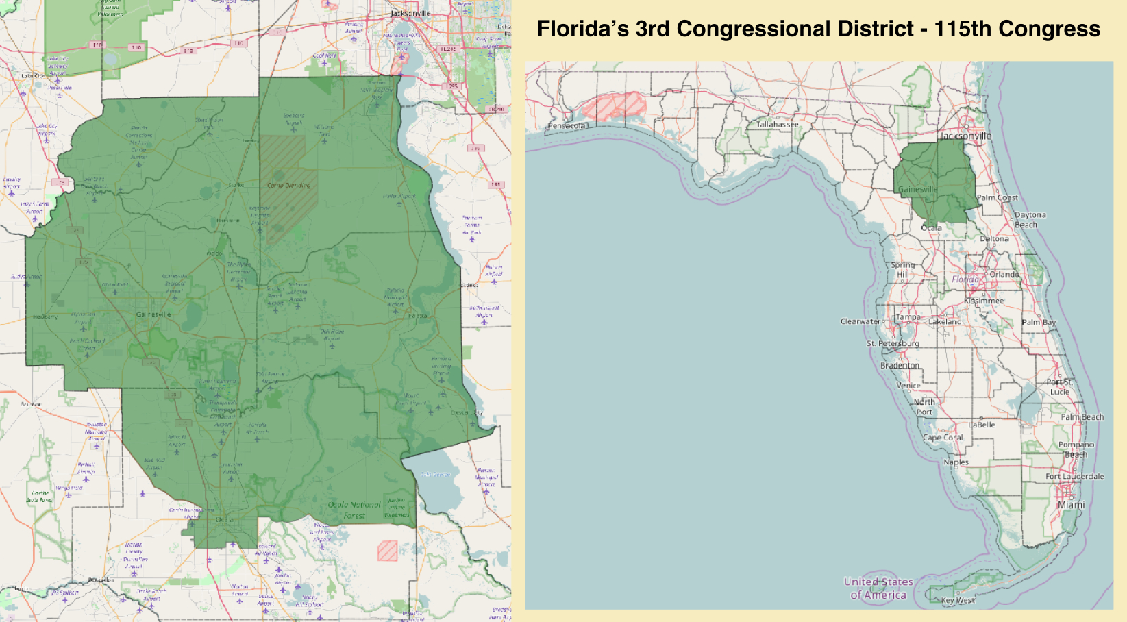 Florida's 3Rd Congressional District - Wikipedia - Florida 6Th Congressional District Map