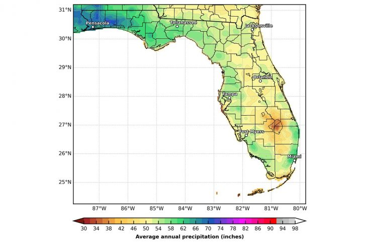 Florida State Weather Map