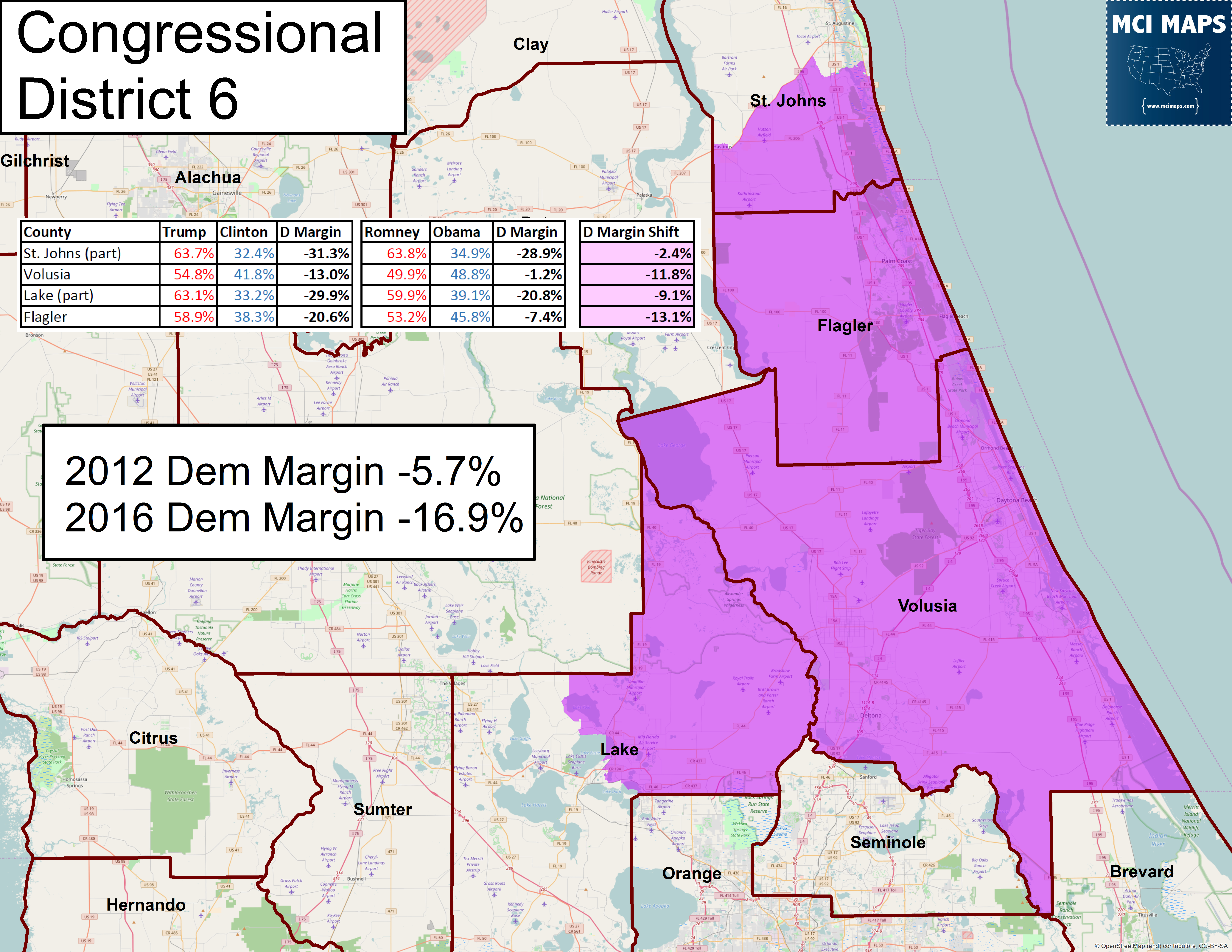 Florida's Congressional District Rankings For 2018 – Mci Maps - Florida District 6 Map