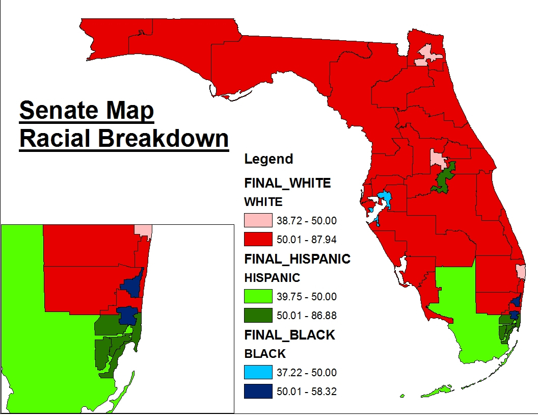 Florida's New (Final) State Senate Map « Mattsmaps - Florida Snake Problem Map