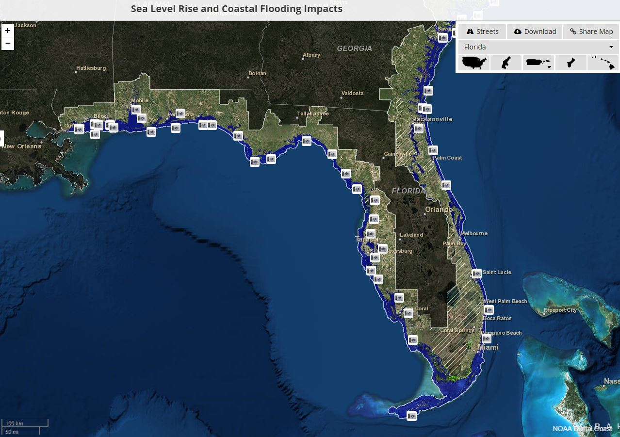 Florida's State Workers Silenced On Climate Change   Earthjustice - Map Of Florida After Sea Level Rise
