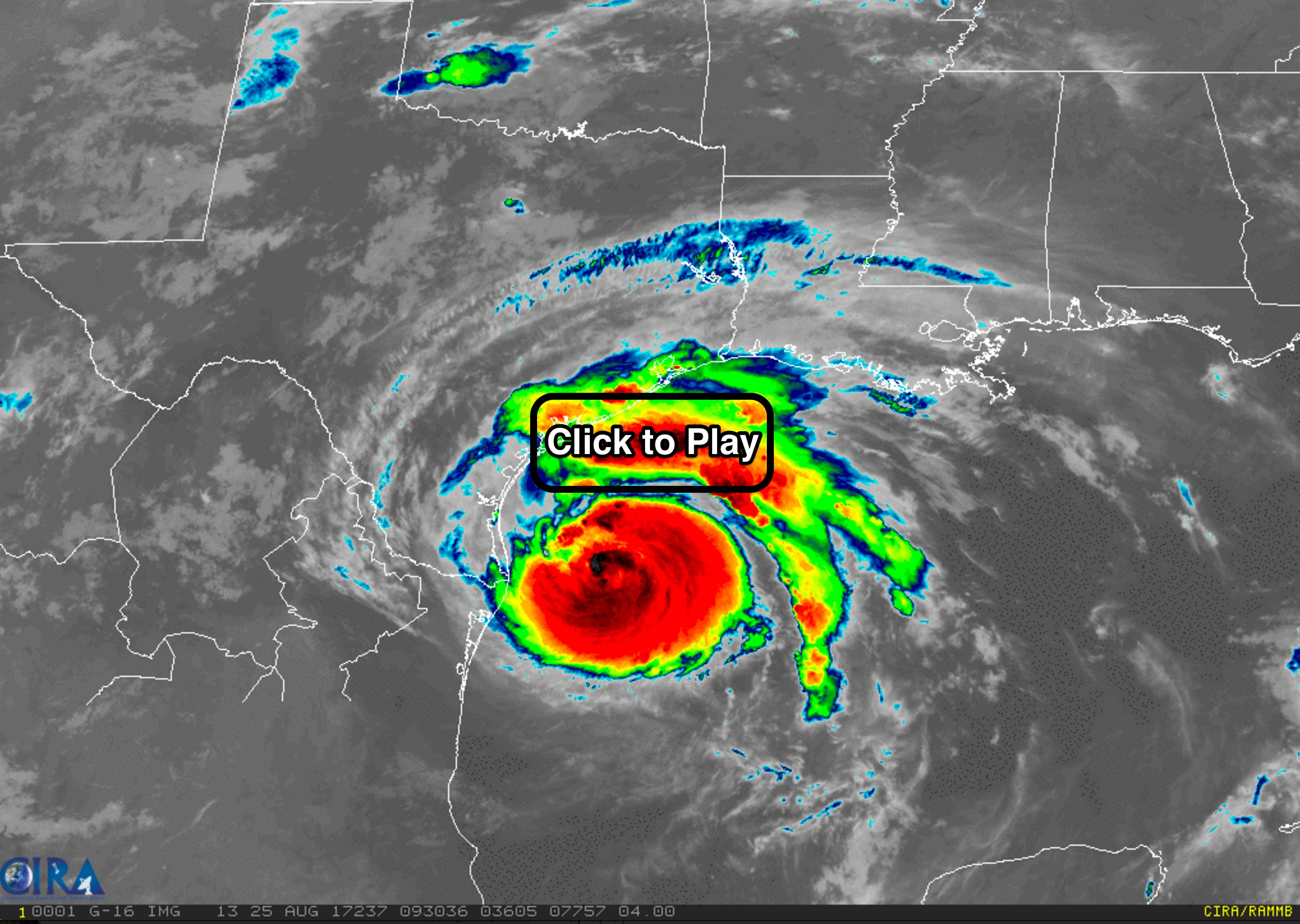 Follow Harvey's Calamitous Multi-Day Meander Over Texas In This - Texas Satellite Weather Map