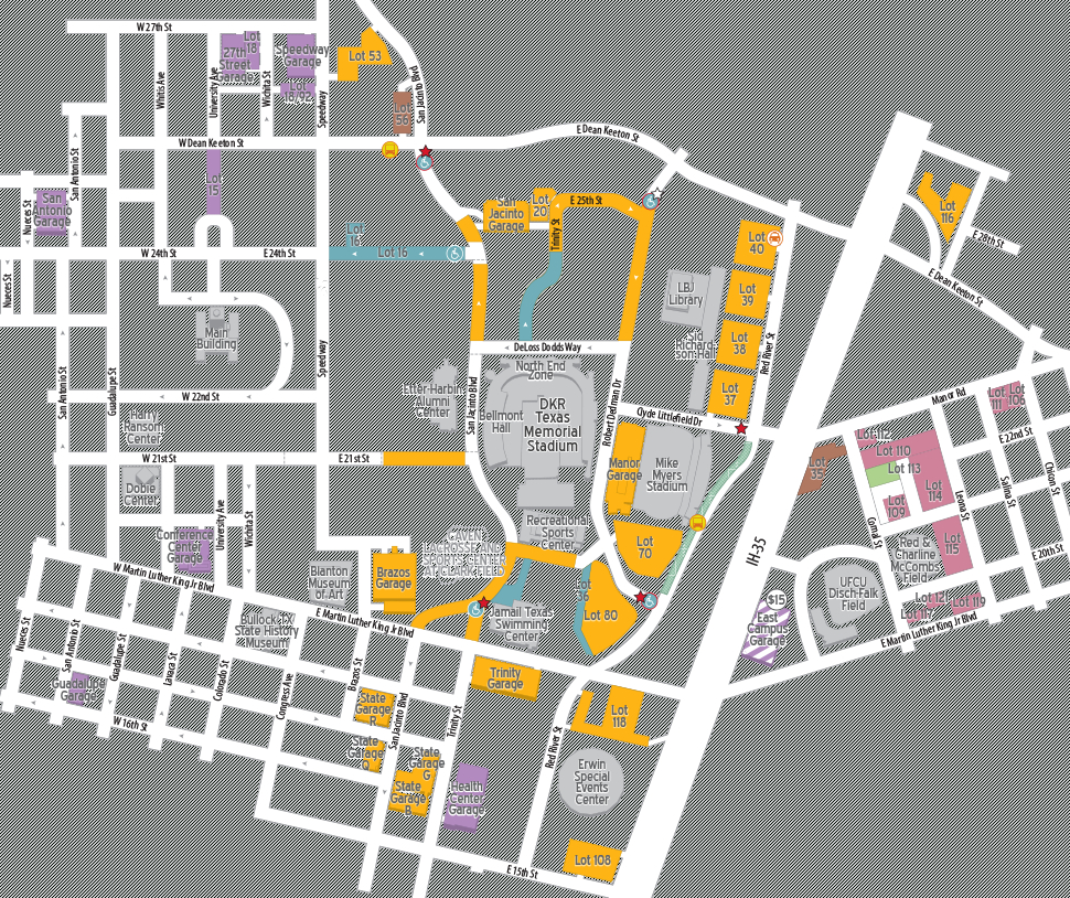 Football Parking 2018 | Parking & Transportation | The University Of - University Of Texas Football Stadium Map