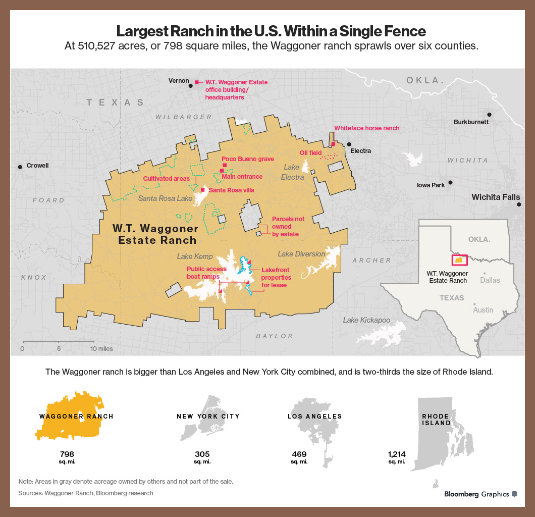 For $725 Million, You Can Buy A Texas Ranch That's The Size Of A - King Ranch Texas Map