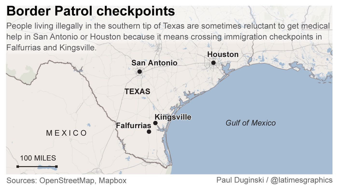 For Some Migrants In Texas, Obtaining Healthcare Means Getting - Immigration Checkpoints In Texas Map