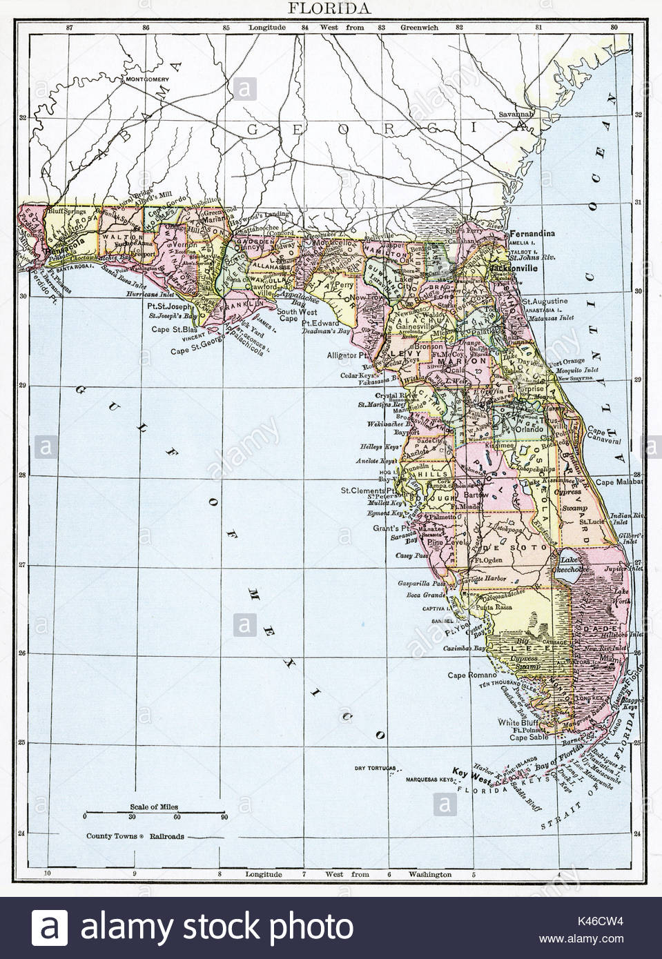 Fort Lauderdale Florida Map Stock Photos & Fort Lauderdale Florida - Where Is Fort Lauderdale Florida On The Map