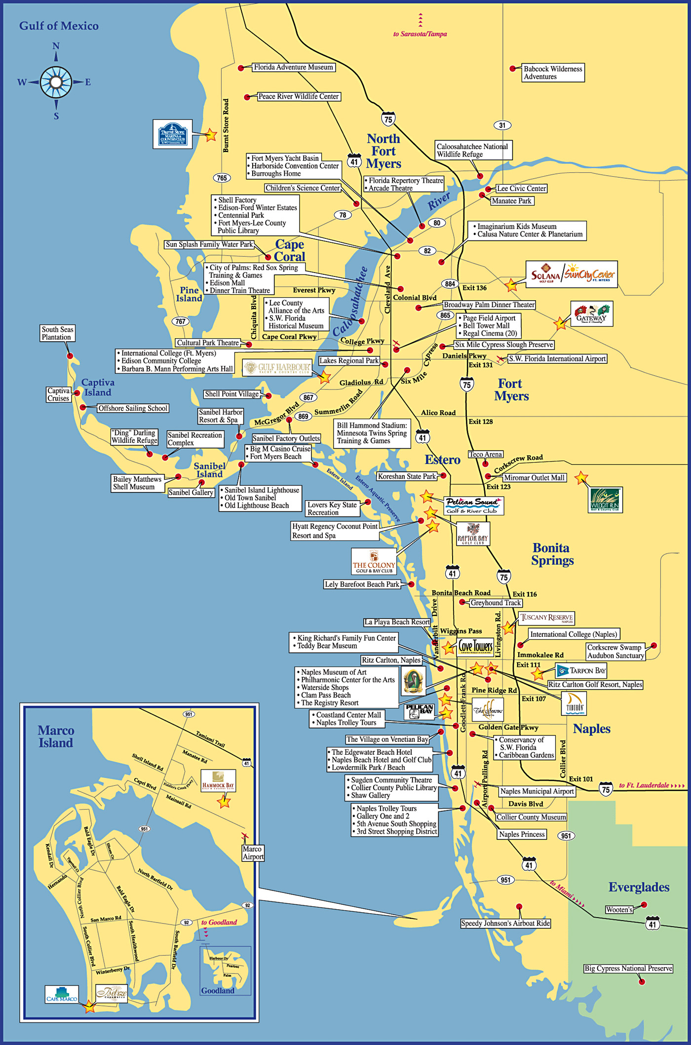 Fort Meyers Tourist Map - Fort Meyers Florida • Mappery - Fort Meyer Florida Map