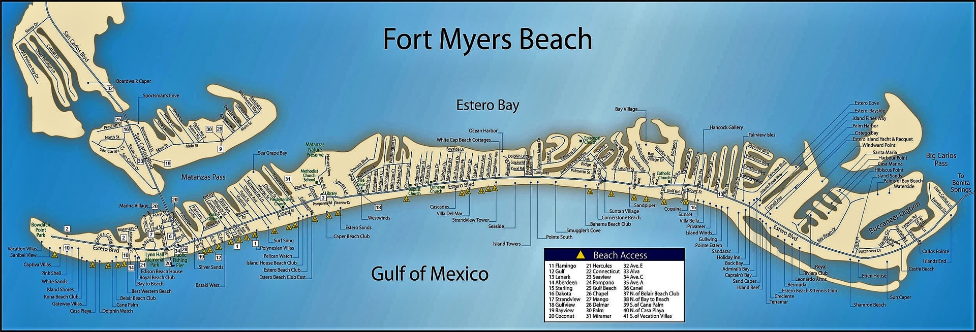Fort Myers Beach Street Map | The Best Beaches In The World - Street Map Of Fort Myers Florida