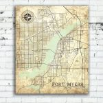 Fort Myers Fl Canvas Print Florida Vintage Map Fort Myers Vintage   Where Is Fort Myers Florida On A Map