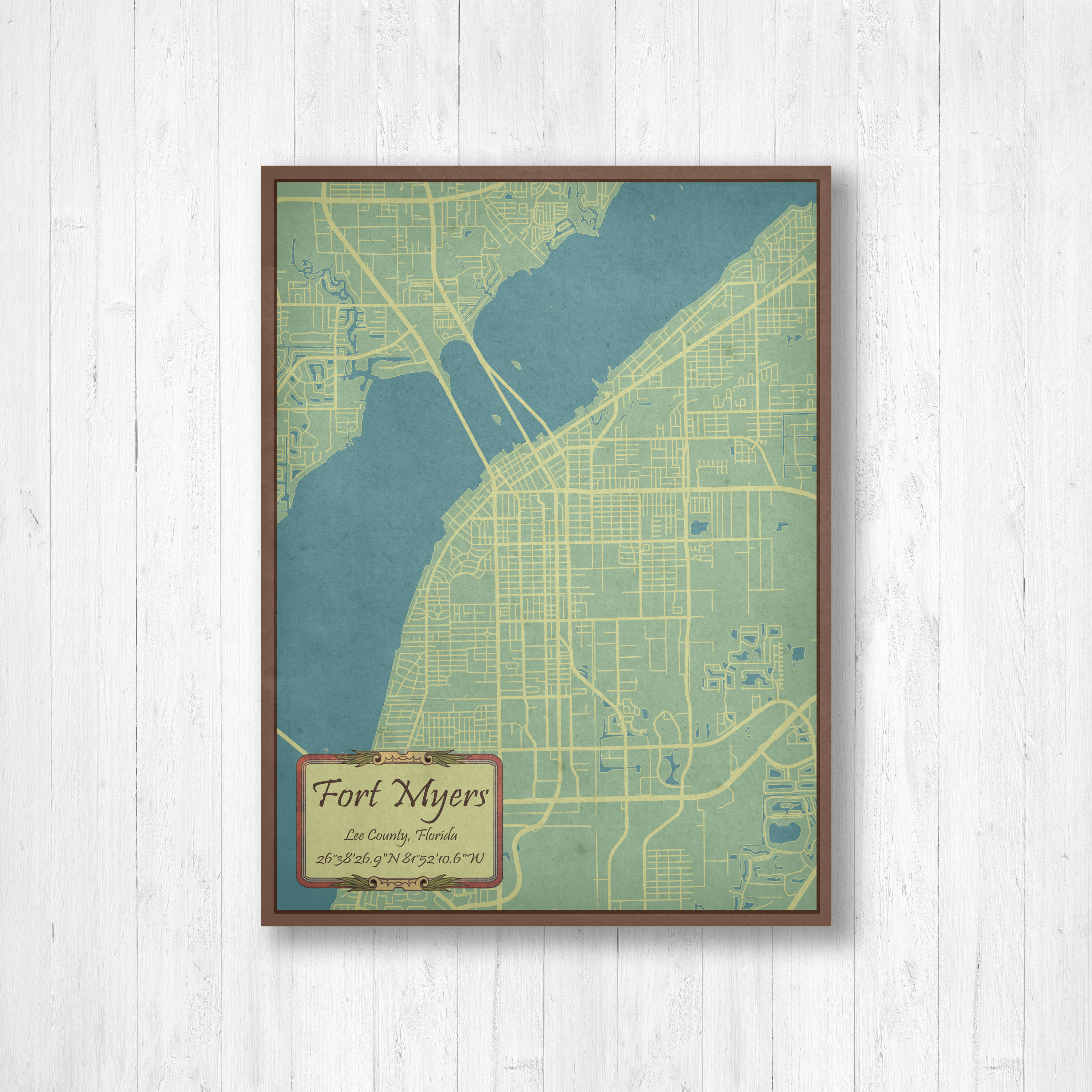 Fort Myers, Florida, Fort Myers Map, Old Map, Vintage Map, Map Of - Street Map Of Fort Myers Florida