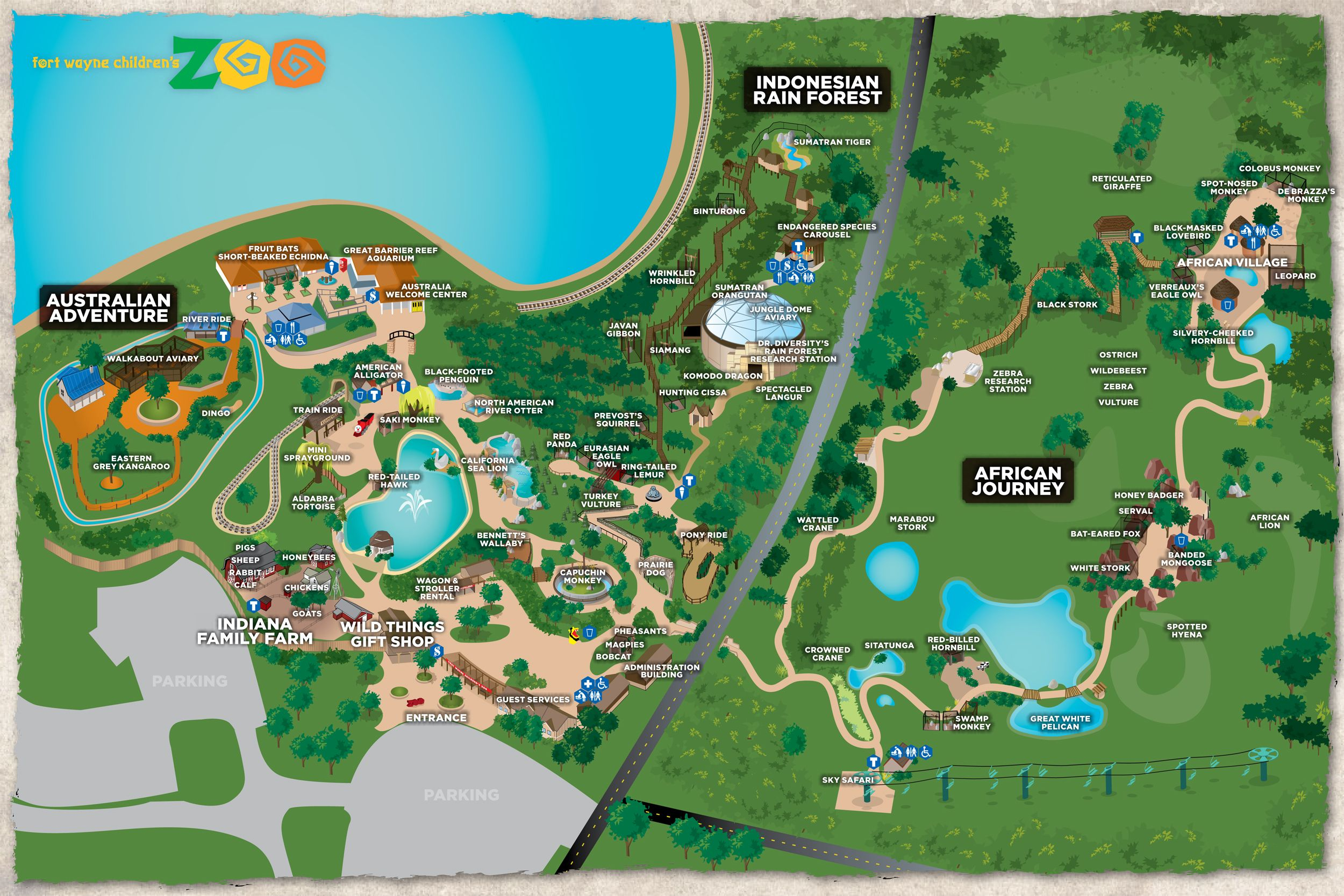 Fort Wayne Children's Zoo Interactive Map | All About K | Zoo Map - Central Florida Zoo Map