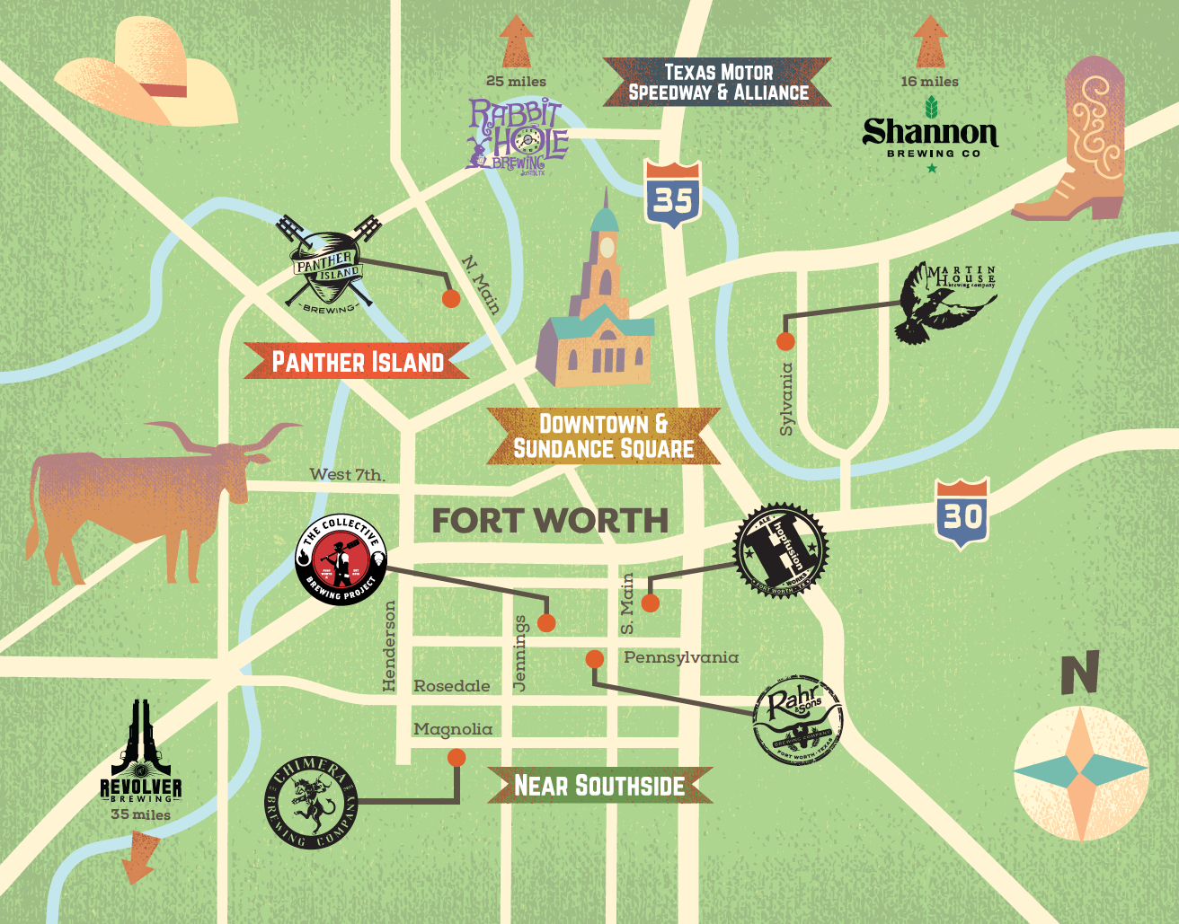"""Fort Worth Cvb Launches """"Ale Trail"""" For Nine Local Breweries - Texas Forts Trail Map"""