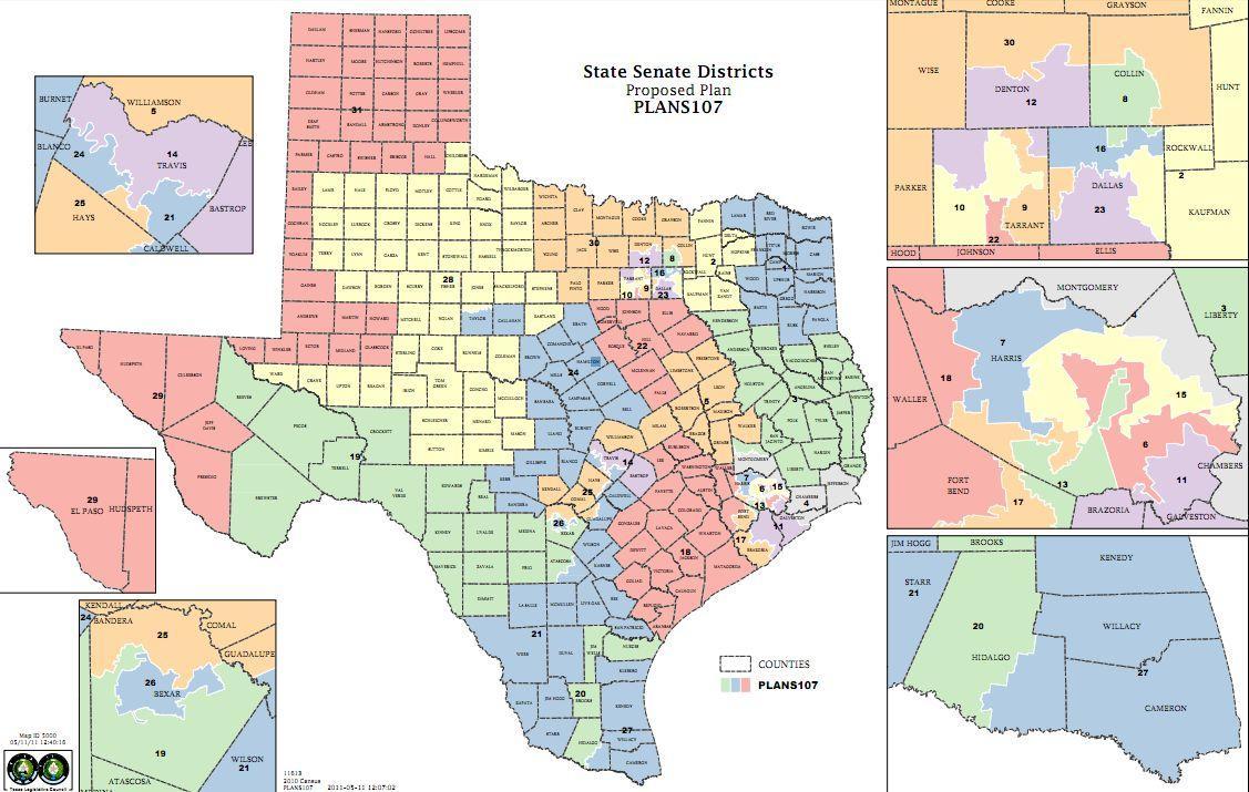 Fort Worth Legislators React To Redistricting | Kut - Texas State Senate Map