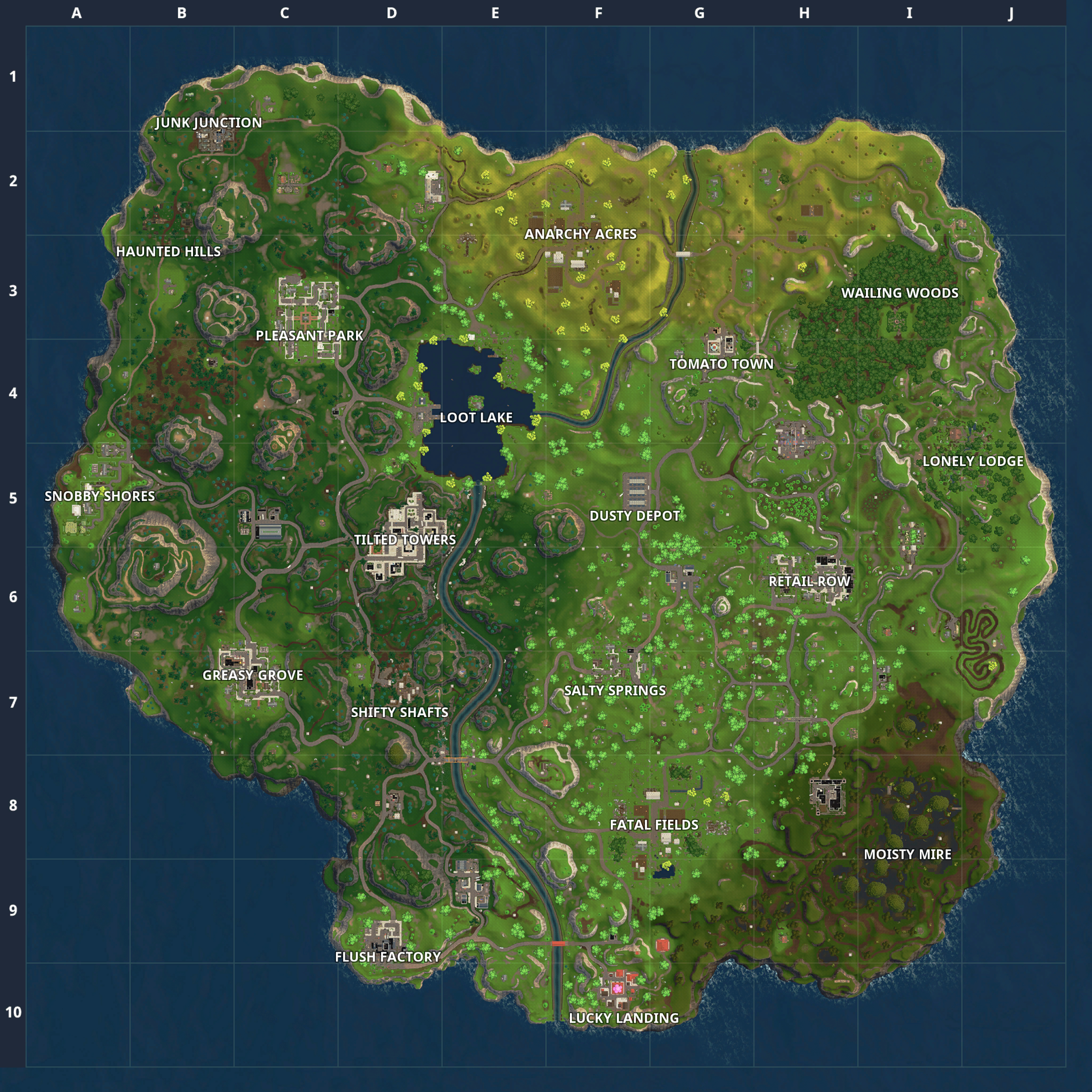 Fortnite Battle Royale Map: Chest Spawn Locations | 0. Inbox | 14Th - Printable Fortnite Map