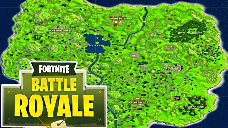 Printable Fortnite Map