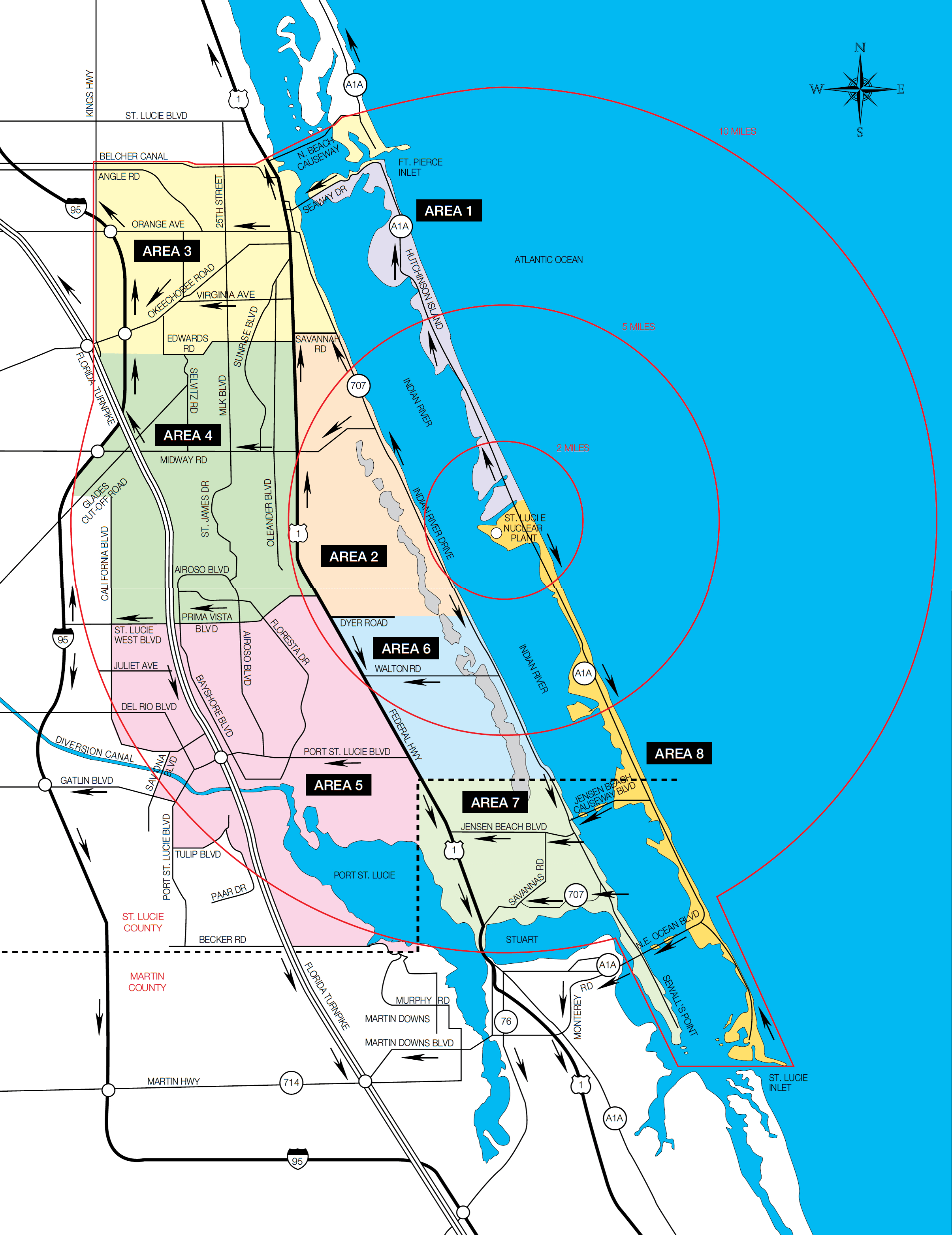 Fpl | Clean Energy | St. Lucie | Maps - Hutchinson Florida Map