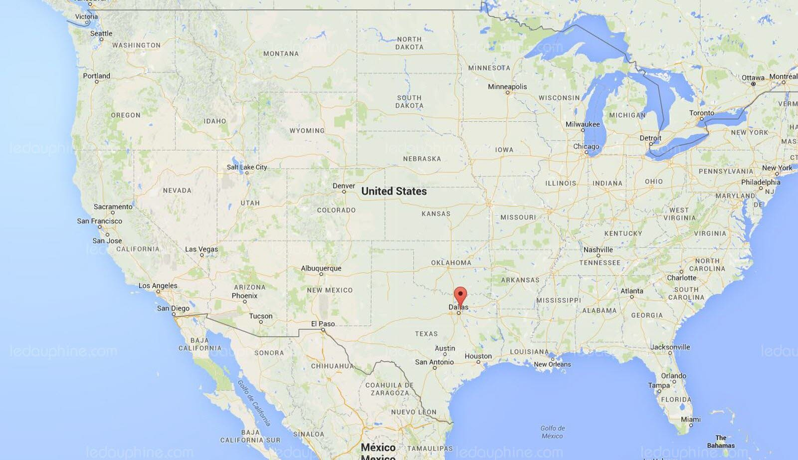 France/monde | Des Tornades Au Texas Font Au Moins Onze Morts - Google Maps Dallas Texas Usa