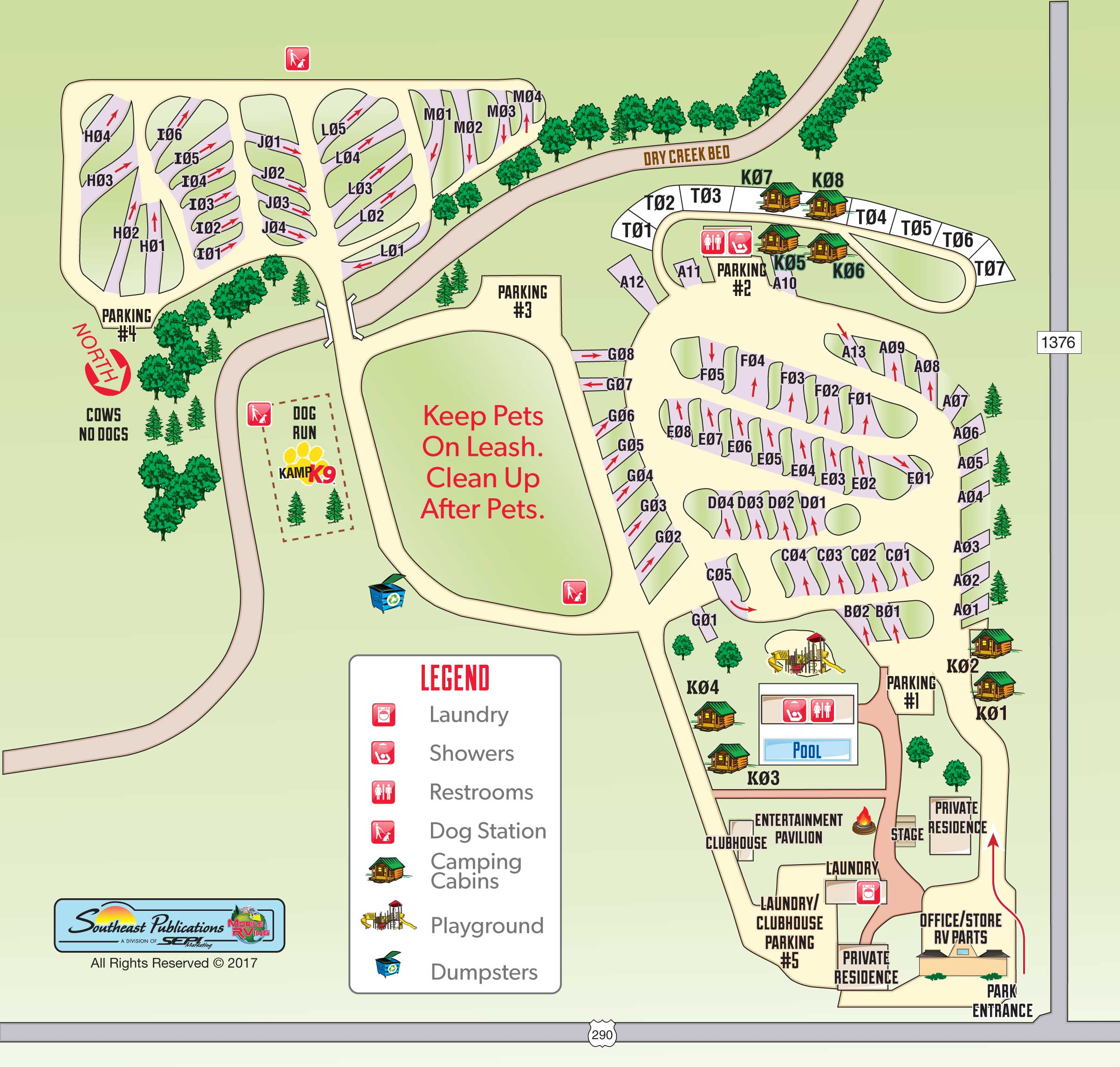 Fredericksburg, Texas Rv Camping Sites | Fredericksburg, Texas Koa - Texas Campgrounds Map