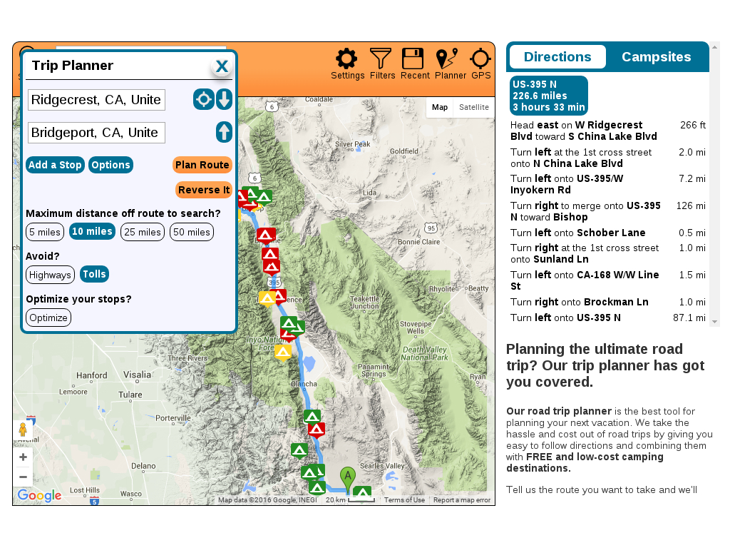 Free Camping Near You   Go Camping For Free! - California Rv Camping Map