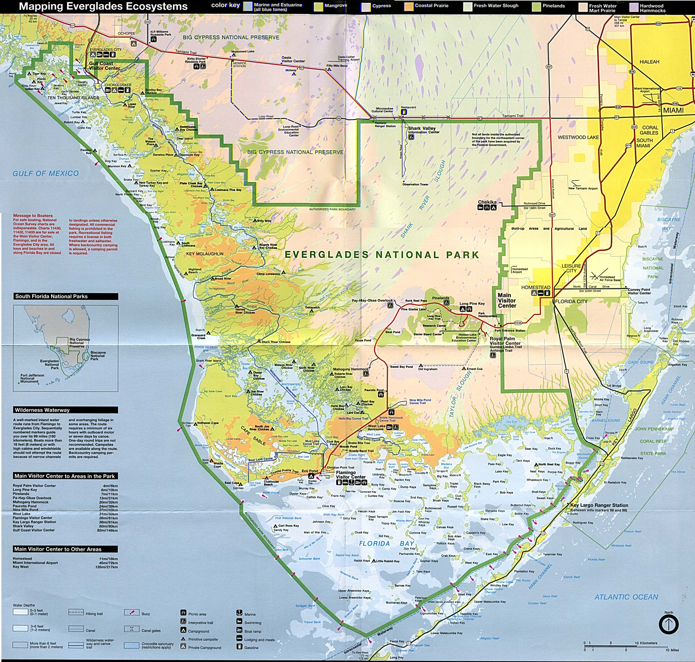 Free Download Florida National Park Maps - Florida Trail Map Pdf
