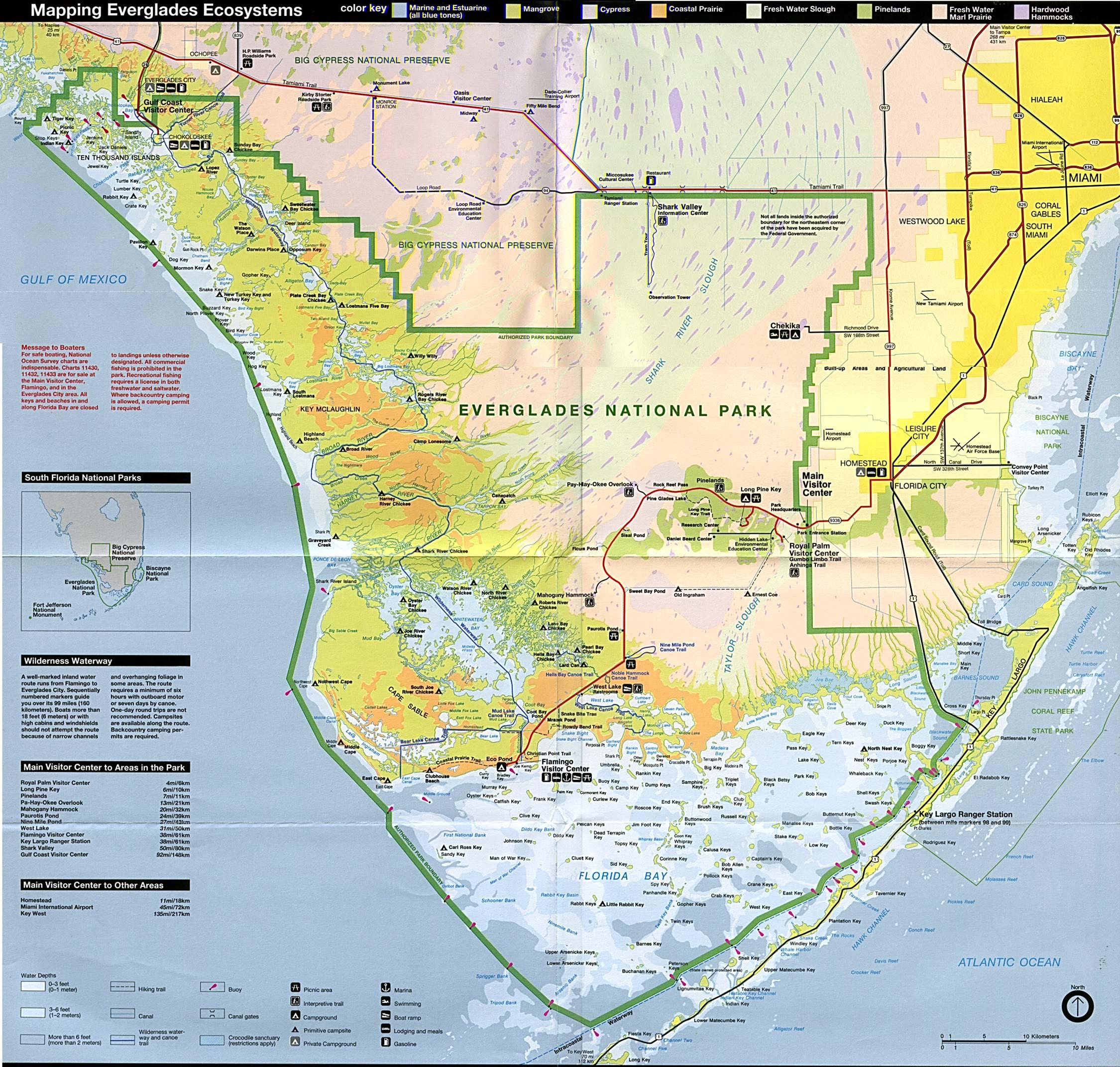 Free Download Florida National Park Maps - Florida Trail Map Pdf