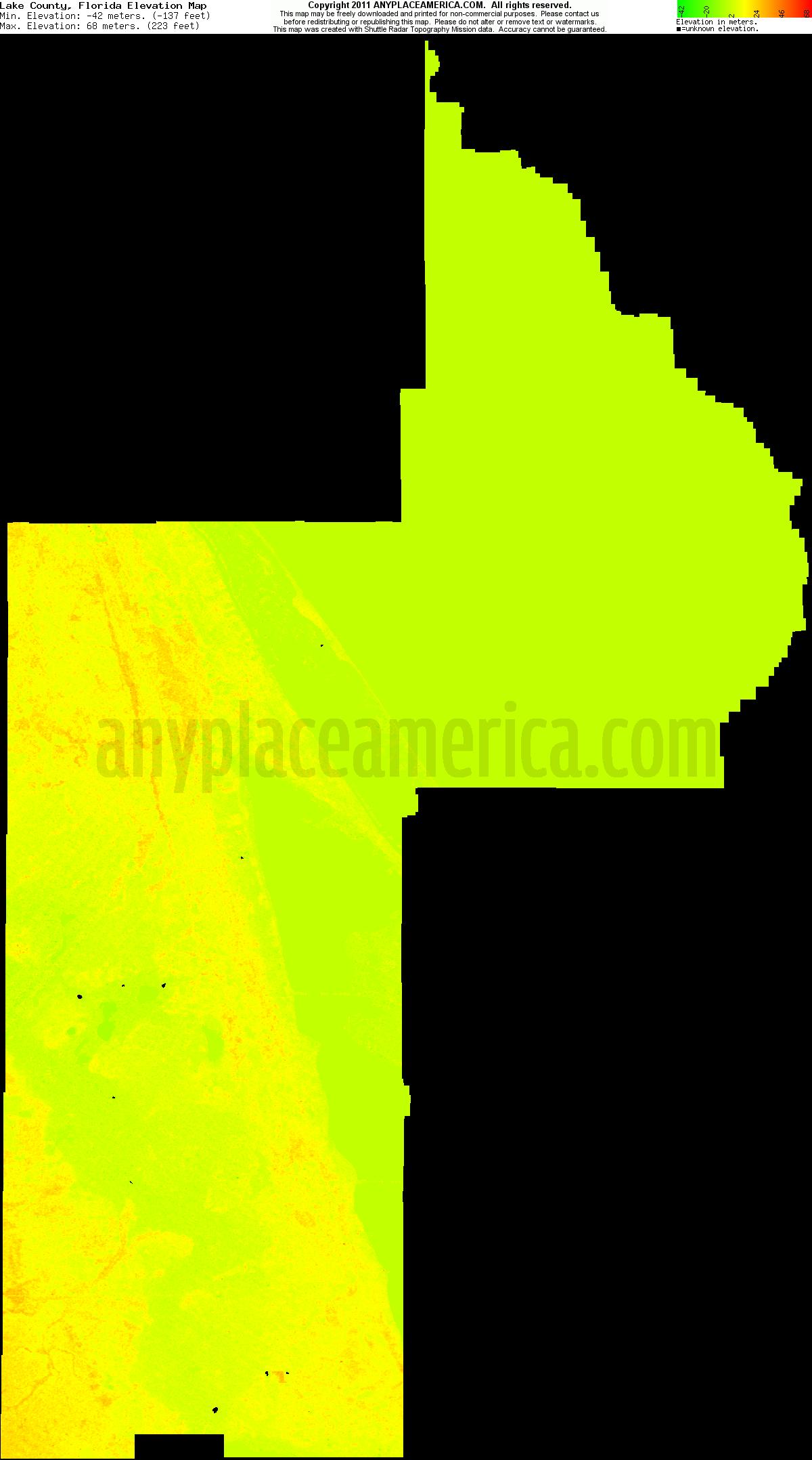 Free Lake County, Florida Topo Maps & Elevations - Florida Elevation Map Free