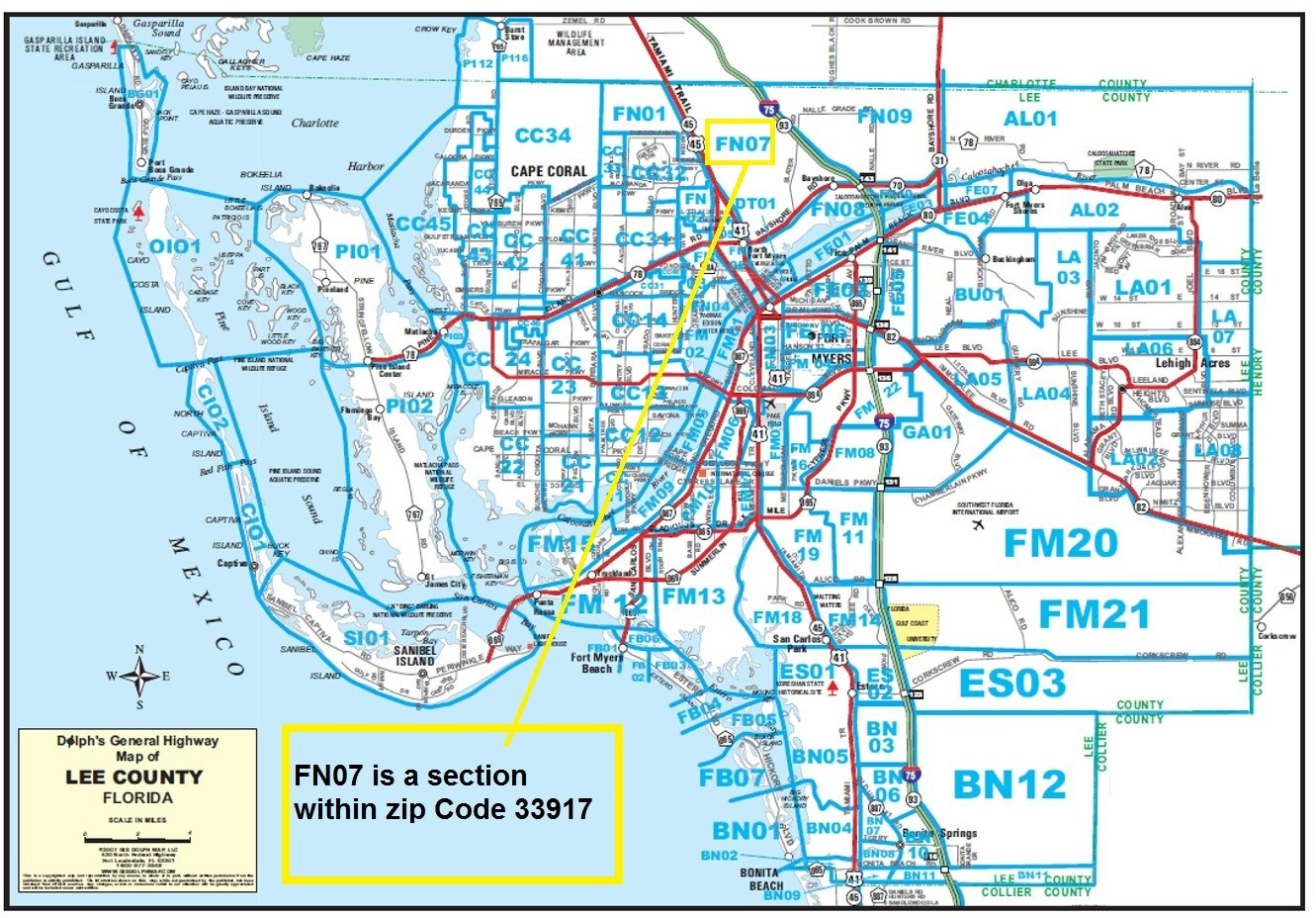 Free Lee County Florida Realtor Map - Sw Florida Real Estate Resources - Collier County Florida Map