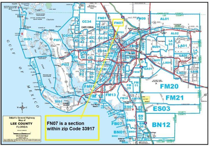 Fort Meyer Florida Map