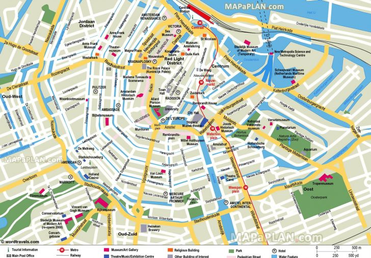 Tourist Map Of Amsterdam Printable
