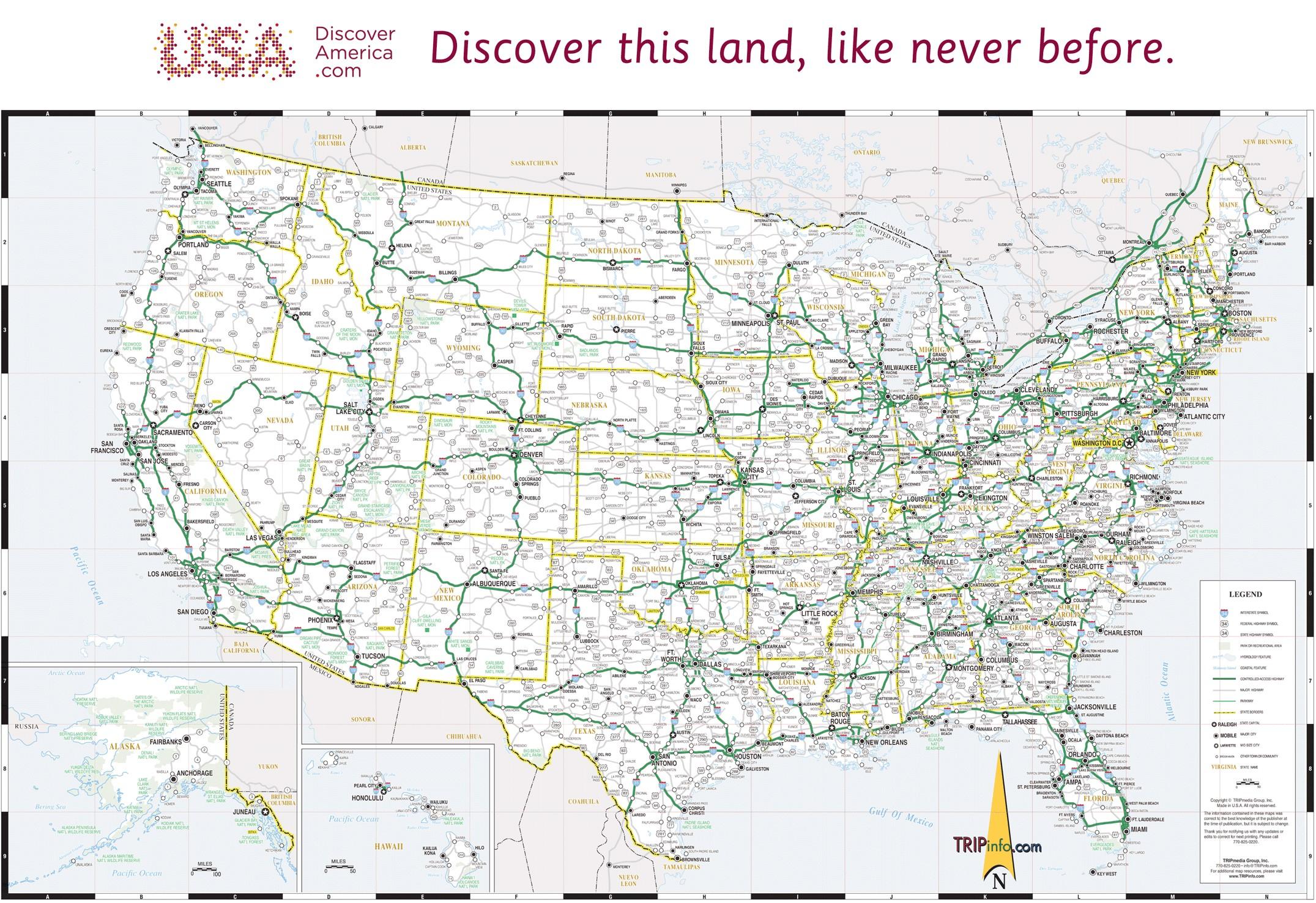 Free Printable Us Highway Map Usa Road Map Best Of Usa Map - Free Printable Road Maps