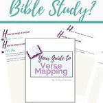 Free Printable Verse Mapping Bible Study Guide | How To Study The   Verse Mapping Printable
