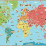 Free Printable World Map For Kids Maps And | Gary's Scattered Mind   Children's Map Of The World Printable