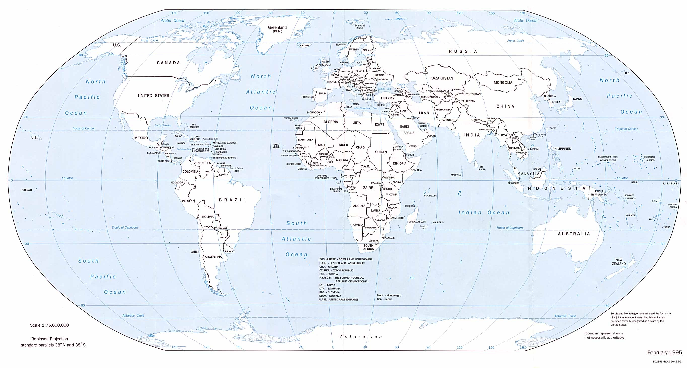Free Printable World Map With Countries Labeled #616147 - Printable World Map With Countries Labeled