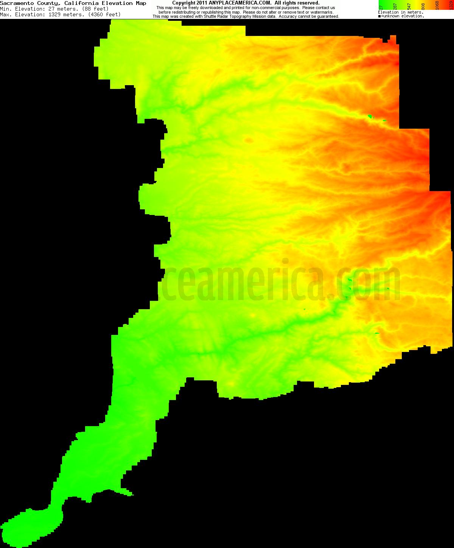 Free Sacramento County, California Topo Maps & Elevations - Map Of Sacramento County California