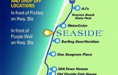 Free Scenic 30A Trolley Summer Schedule & Map | Sowal | Florida – Seaside Florida Town Map