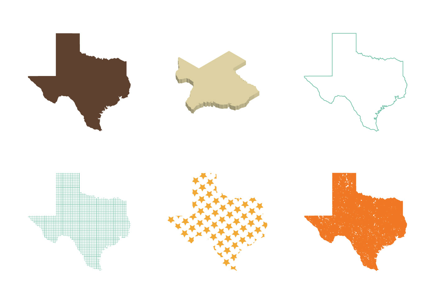 Free Texas Map Vector - Download Free Vector Art, Stock Graphics - Texas Map Vector Free