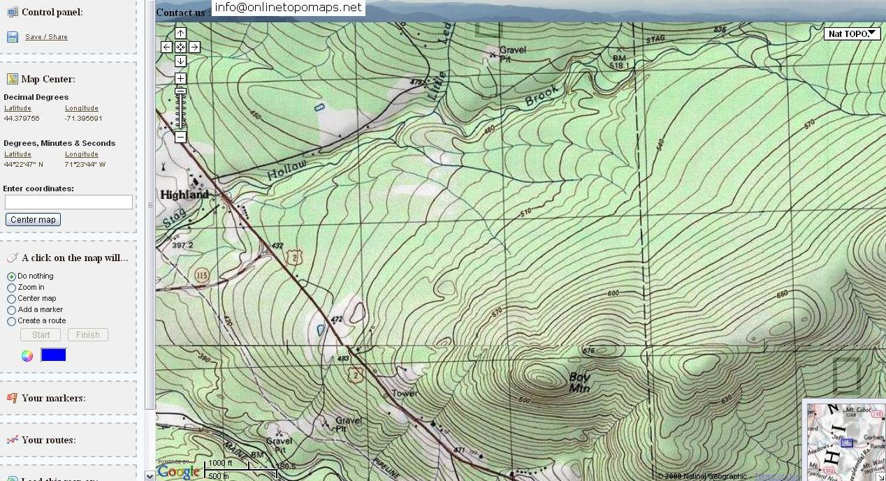 Free Topographic Maps And How To Read A Topographic Map - Free Printable Topo Maps Online