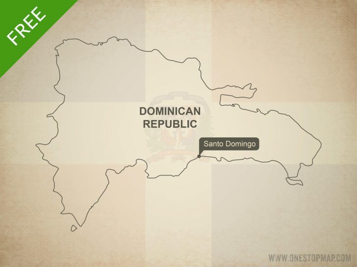 Free Printable Map Of Dominican Republic