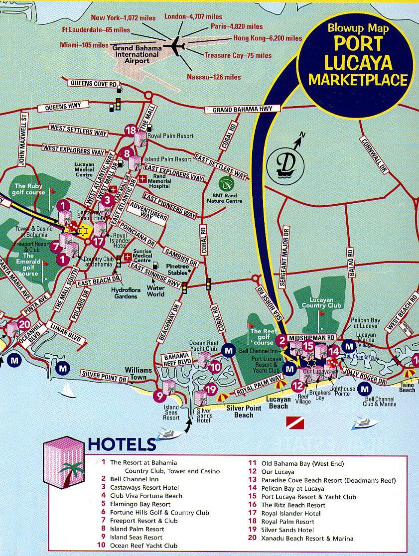 Freeport Tourist Map - Freeport Bahamas • Mappery | Vacation - Map Of Cruise Ports In Florida