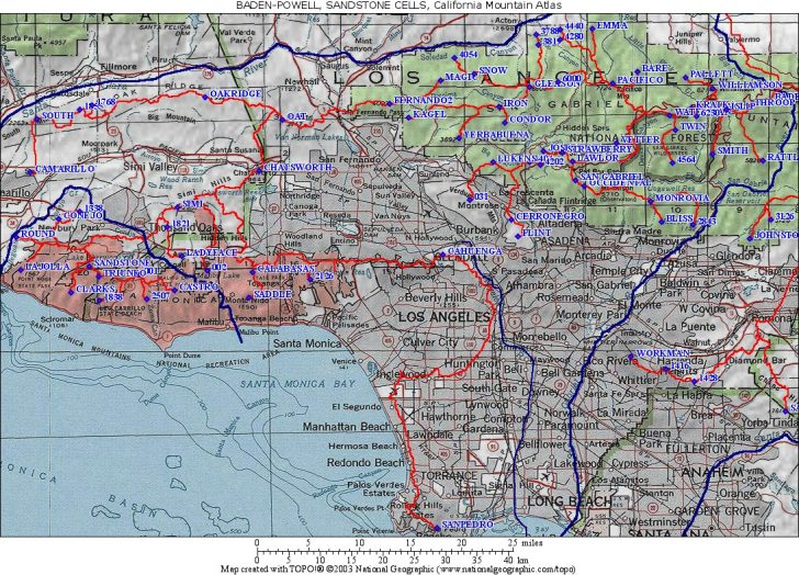 Southern California Road Map Pdf