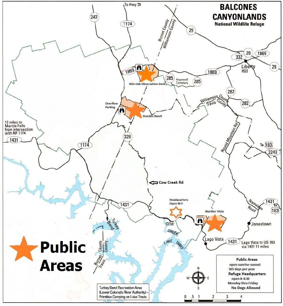 Friends Of Balcones Nwr - Maps - Texas Wildlife Refuge Map