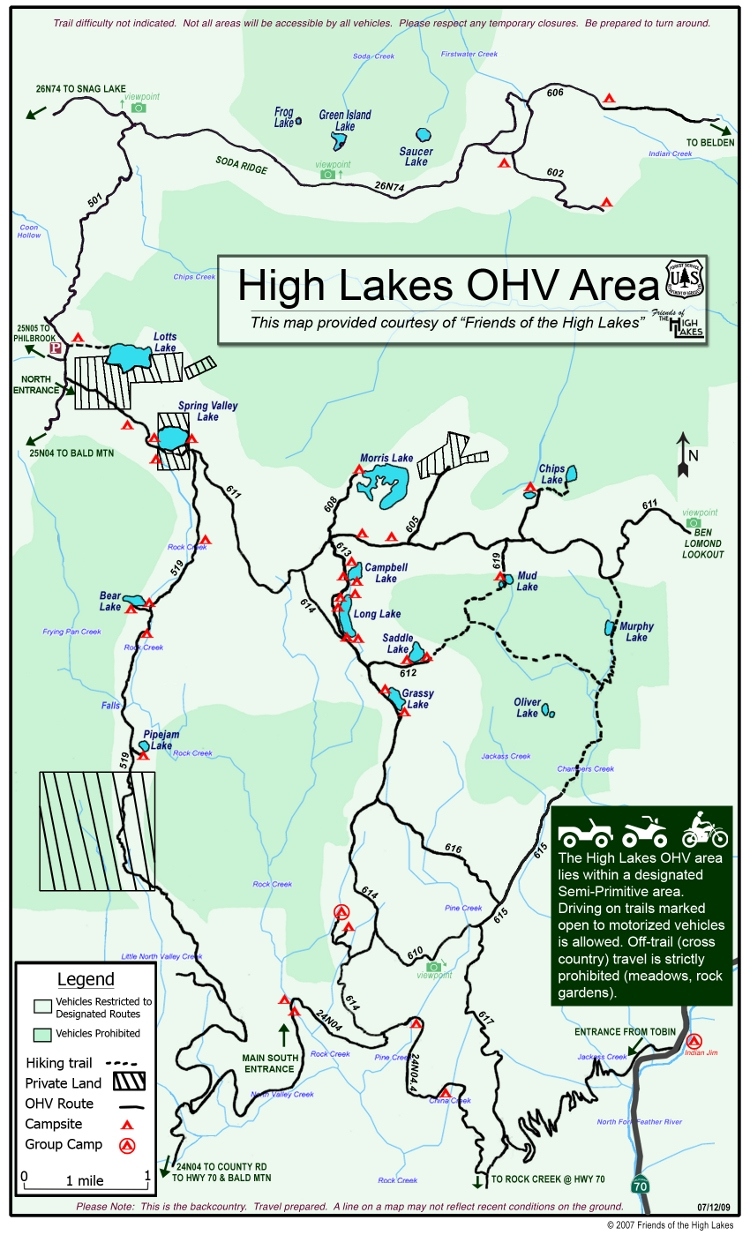 Friends Of The High Lakes - Portal - California Ohv Map