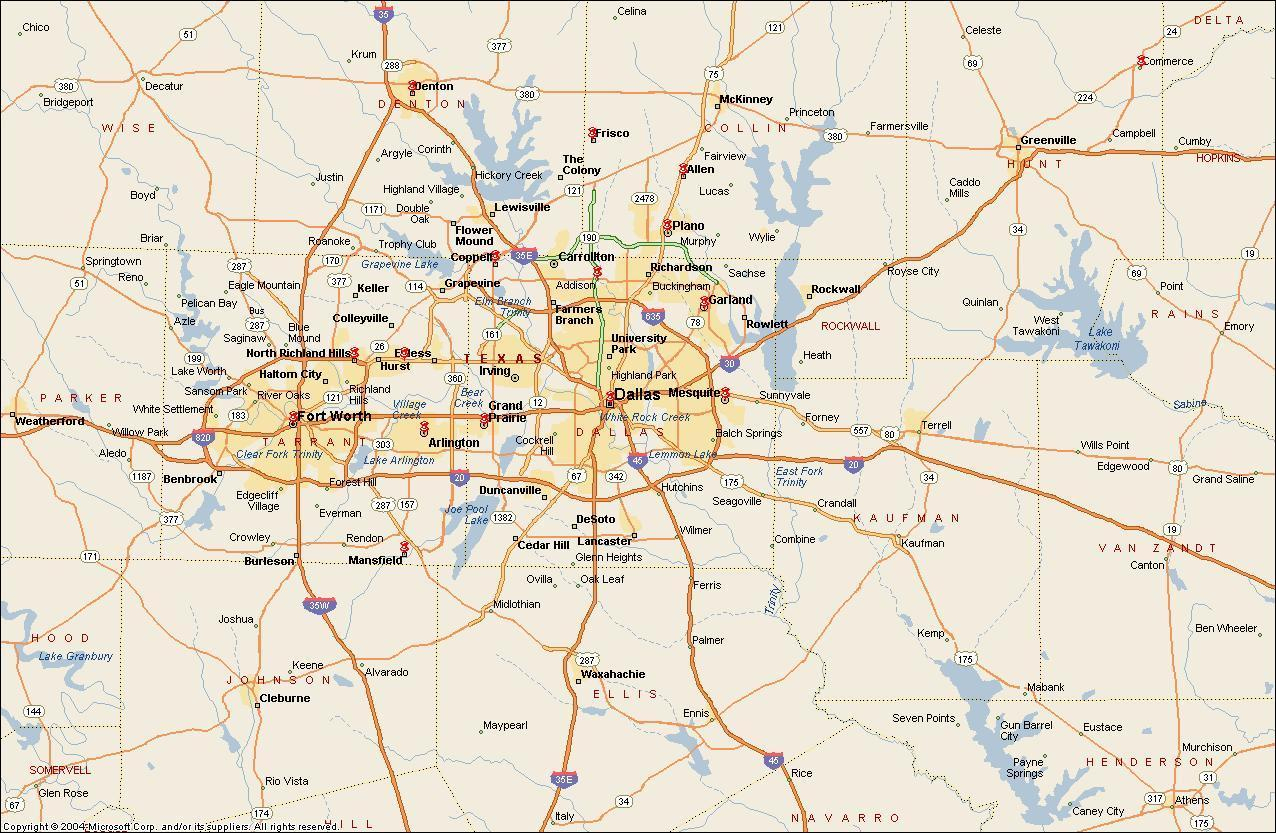 Ft Worth Area Map - Map Of Fort Worth Area (Texas - Usa) - Map Of Fort Worth Texas Area