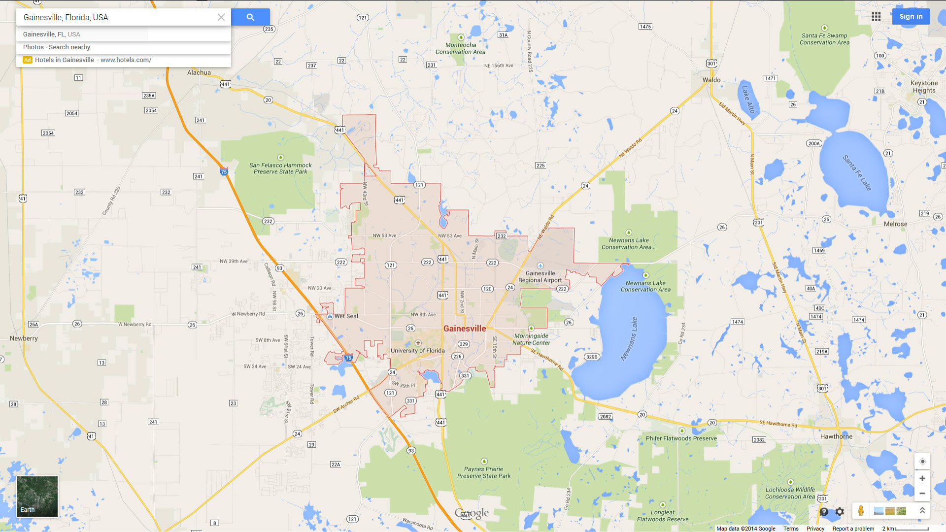 Gainesville, Florida Map - Map Of Gainesville Florida Area